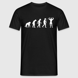 Body Building Evolution - Männer T-Shirt