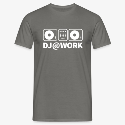 DJ@Work Black Silver - Männer T-Shirt
