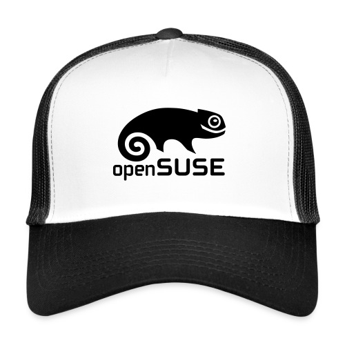Black openSUSE Trucker Hat - Trucker Cap