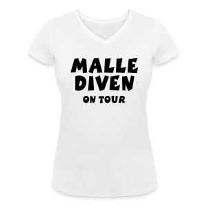 Malle Diven on Tour V-Neck T-Shirt - Frauen T-Shirt mit V-Ausschnitt