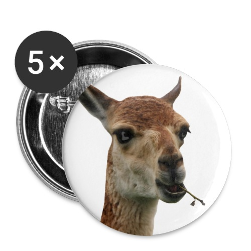 Vicuna Robber Monk Buttons (56 mm) - Buttons large 2.2''/56 mm(5-pack)