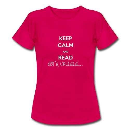 Ladies Keep Calm Got A Ukulele shirt - Women's T-Shirt