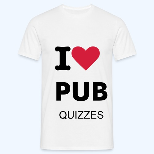 I heart pub quizzes - Men's T-Shirt