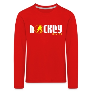 Hockey is Life Children's Long Sleeve T-Shirt - Kids' Premium Longsleeve Shirt