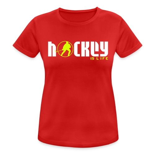Hockey is Life Women's Breathable T-Shirt - Women's Breathable T-Shirt