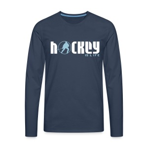 Hockey is Life Men's Long Sleeve T-Shirt - Men's Premium Longsleeve Shirt