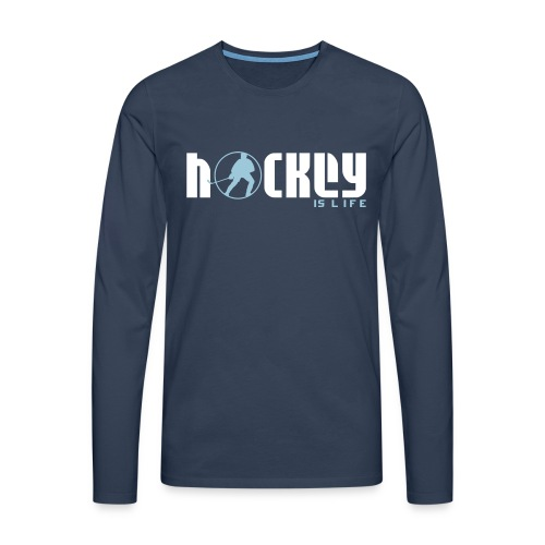 Hockey is Life Men's Long Sleeve T-Shirt - Men's Premium Longsleeve Shirt