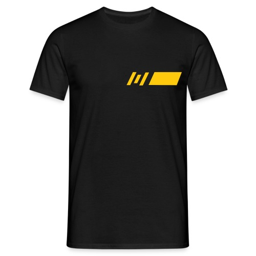 ML Yellow on Black Design - Men's T-Shirt