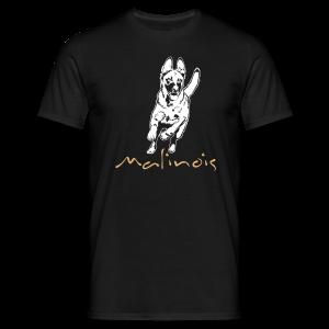 Malinois mit Schriftzug - Männer T-Shirt