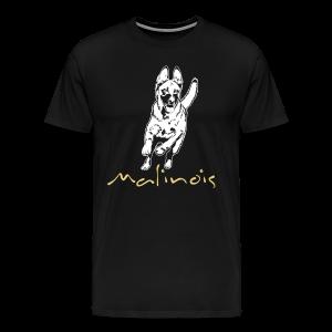 Malinois mit Schriftzug - Männer Premium T-Shirt