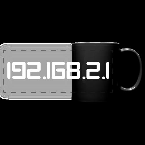 Tasse mit Aufdruck 192.168.2.1 - Panoramatasse farbig