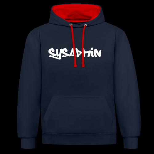 Kaputzenhuts mit Aufdruck SysAdmin - Kontrast-Hoodie