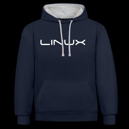 Kaputzenhuts mit Aufdruck Linux - Kontrast-Hoodie