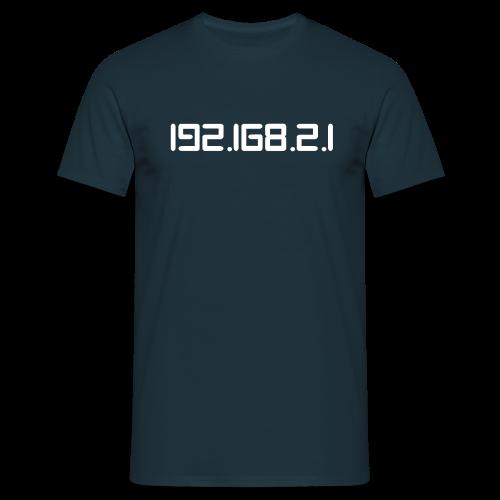 T-Shirt mit Aufdruck 192.168.2.1 - Männer T-Shirt