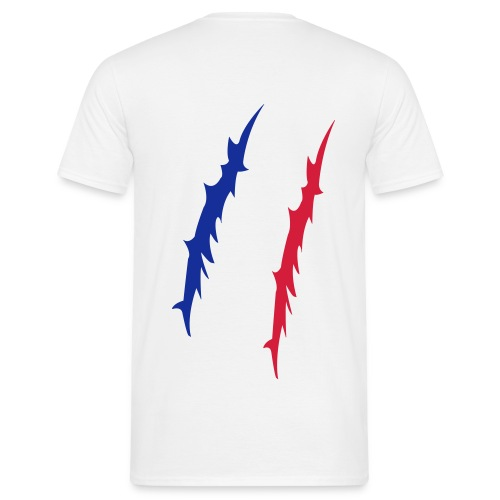 Tee-Shirt Homme - Griffe tricolore (dos) - T-shirt Homme