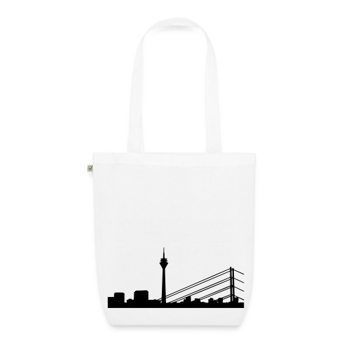 Shoppingtasche Düsseldorf Skyline - Bio-Stoffbeutel