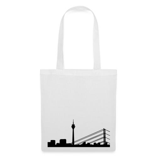Shoppingtasche Düsseldorf Skyline - Stoffbeutel