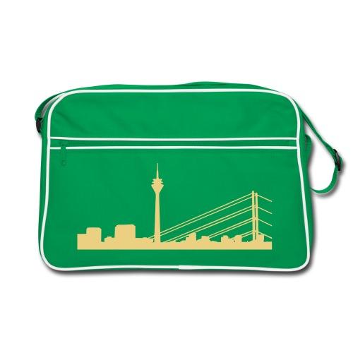 Retro-Bag Düsseldorf Skyline - Retro Tasche