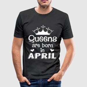 April - Queen - Birthday - 1 T-Shirts - Men's Slim Fit T-Shirt