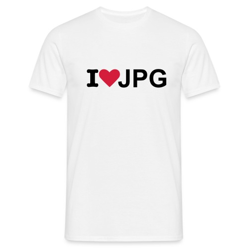 I love jpg - Mannen T-shirt