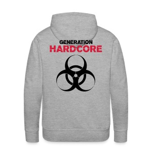 Sweat hardcore grey - Sweat-shirt à capuche Premium pour hommes