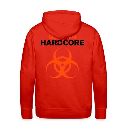Sweat hardcore red - Sweat-shirt à capuche Premium pour hommes