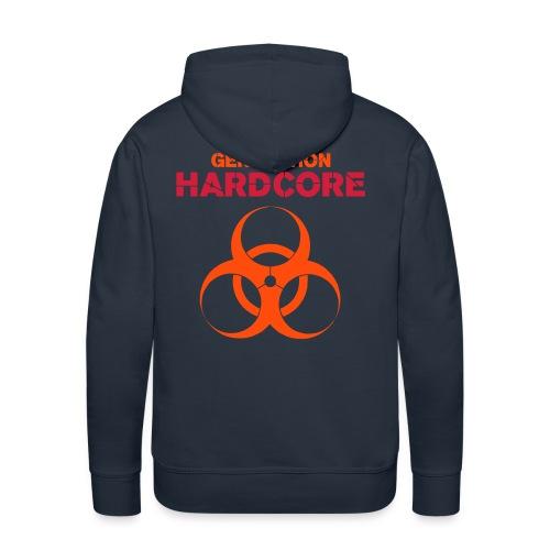 Sweat hardcore marine - Sweat-shirt à capuche Premium pour hommes