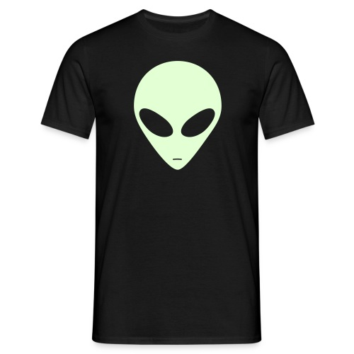 Alien (glow in the dark) - Mannen T-shirt
