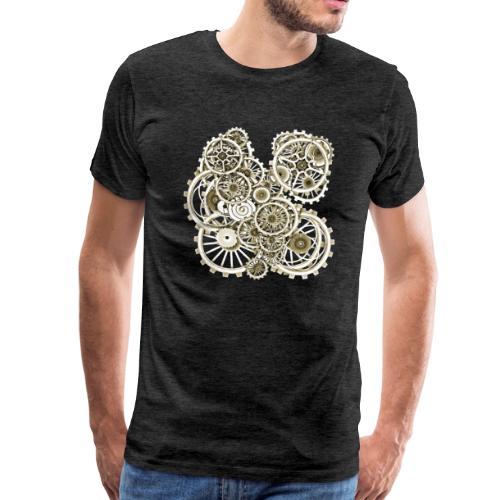 Steampunk Gears on your Gear No.2 Vintage Men's Premium T-Shirt - Men's Premium T-Shirt