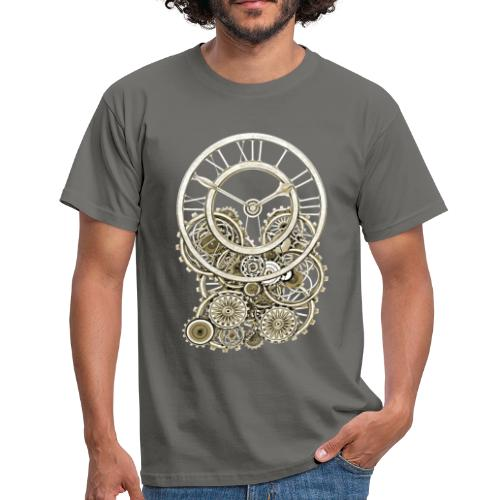 Elegant Vintage Steampunk Style Clock Men's T-Shirt - Men's T-Shirt