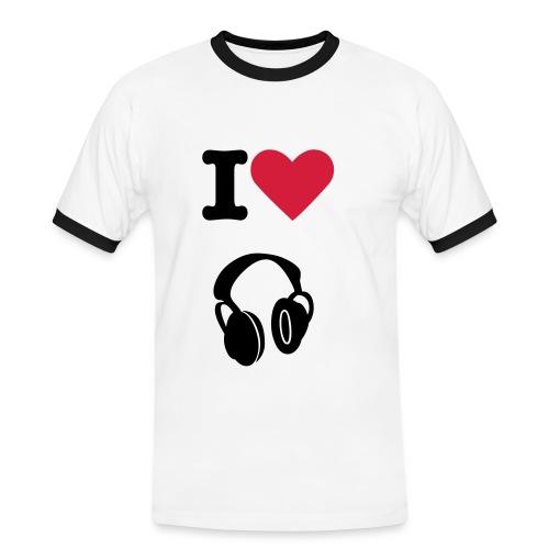 i love dj - Maglietta Contrast da uomo
