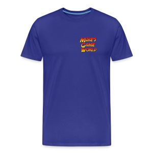 Royal blue logo - Mannen Premium T-shirt
