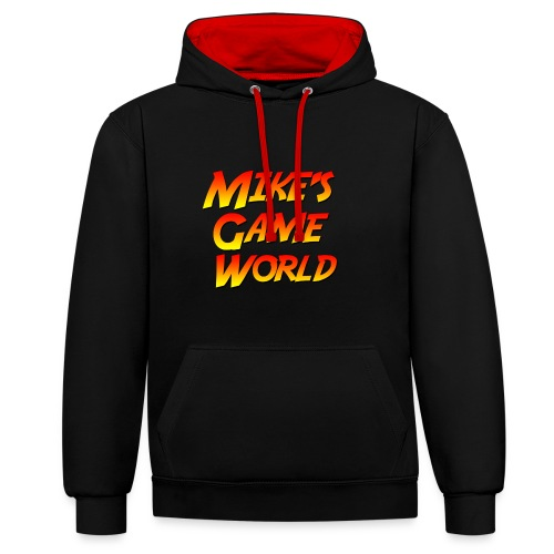 black hoodie logo - Contrast hoodie