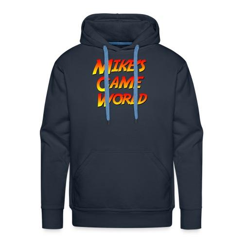 navy hoodie logo - Mannen Premium hoodie
