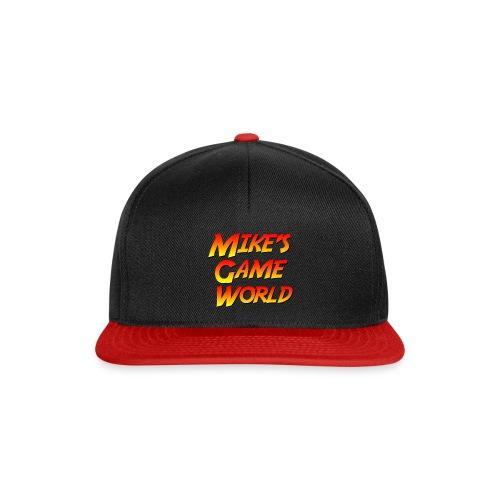 snapback cap red logo - Snapback cap