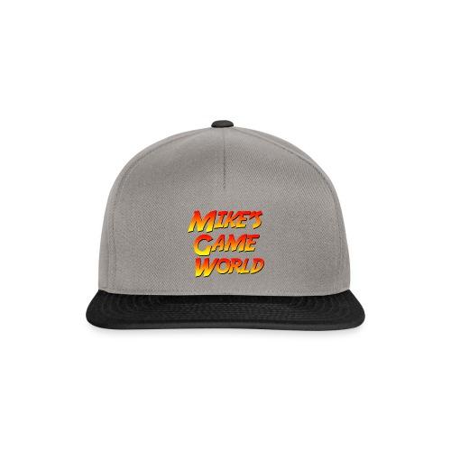 snapback cap grey logo - Snapback cap