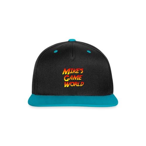 snapback cap teal logo - Contrast snapback cap