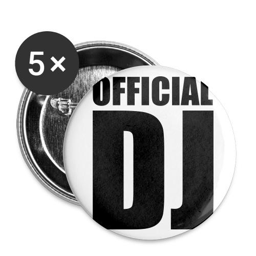 5 spille - official dj - Spilla piccola 25 mm