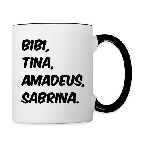 Bibi und Tina Typographie  - Tasse zweifarbig