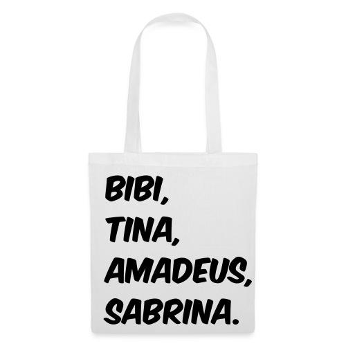 Bibi und Tina Typographie  - Stoffbeutel