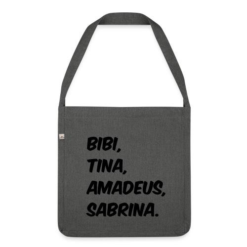 Bibi und Tina Typographie  - Schultertasche aus Recycling-Material