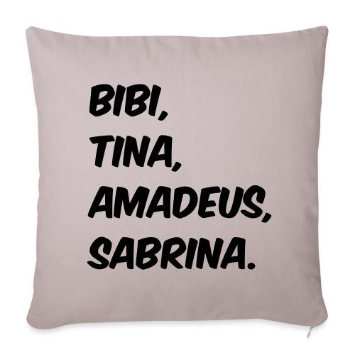 Bibi und Tina Typographie  - Sofakissenbezug 44 x 44 cm