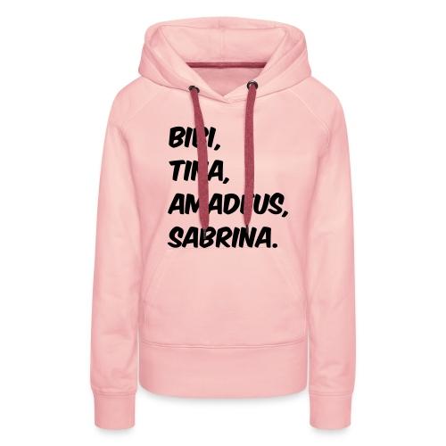 Bibi und Tina Typographie  - Frauen Premium Hoodie
