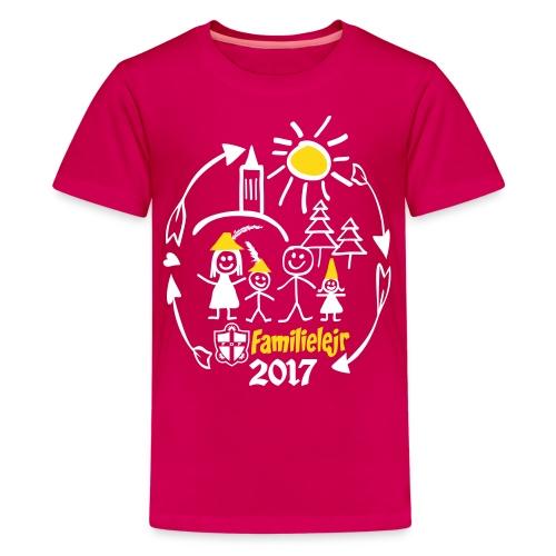 FDF Familielejr 2017 tshirt - Teenager premium T-shirt