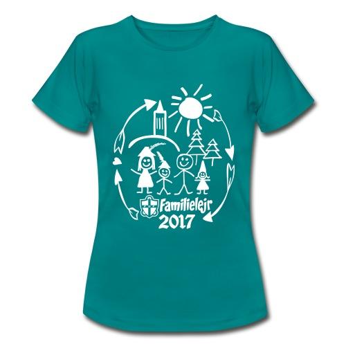FDF Familielejr 2017 voksen (k) - Dame-T-shirt