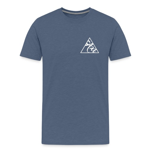 Pyramid (heather blue) - Men's Premium T-Shirt