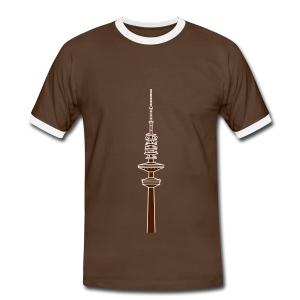 Hertz-Turm Hamburg 2 - Männer Kontrast-T-Shirt
