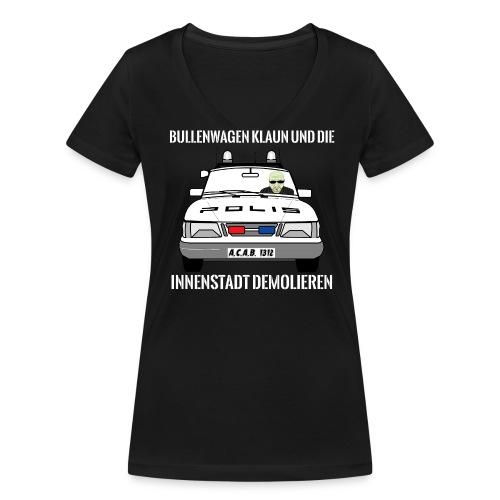 Bullenwagen klaun - Girlie Shirt - Frauen Bio-T-Shirt mit V-Ausschnitt von Stanley & Stella