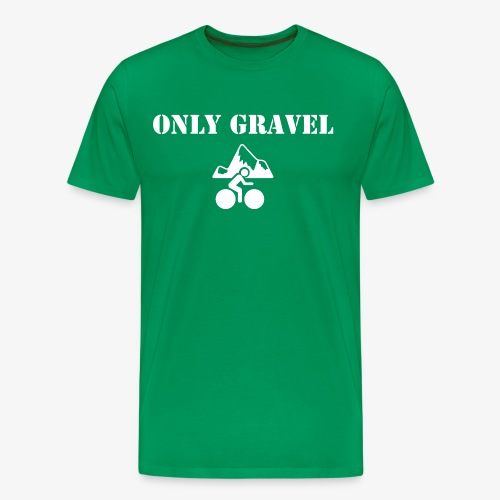 T-shirt Only Gravel Vert - T-shirt Premium Homme