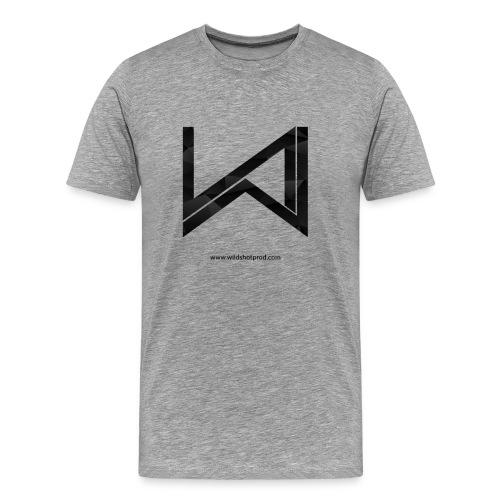 T-Shirt Wild Shot Production Gris Clair Logo Noir - T-shirt Premium Homme